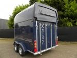 Matrix 2 paards trailer achteraanzicht met polyester bovenklep